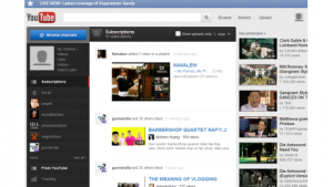 youtube homepage before secret layout
