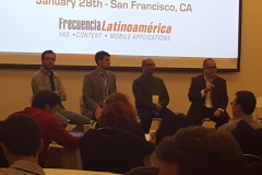 Sergi Herrero, Head of Growth and Partnerships - LATAM, Facebook; Matthew Chagan, Vice President of Corporate Development, Opera Software; Luis Samra, General Manager, Latin America and Caribbean, Evernote y Ernesto Piedras, Ceo, The Competitive Intellience Unit