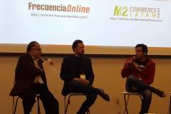Ernesto Piedras, CEO & Director General, CIU; Arturo Lovazzano Sr. Manager, Content & Media Services, Samsung y Fernando Vasconez, Business Development, Rovio