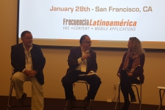 Leandro Musciano, Regional Product and Services Director Telefonica Latin America; Ernesto Piedras, CEO & Director General, CIU and Vanessa Rosas, Innovation & Business Development Director, Televisa